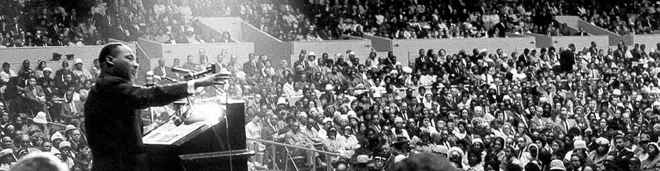 "picture of Martin Luther King Jr. addressing a crowd and the words, ""Honoring Rev. Dr. Martin Luther King Jr."""